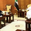 Gus M. Bilirakis, left, leader of the Freedoms Bloc at the U.S. Congress sits with the speaker of the Sudanese parliament Ibrahim Ahmed Omer, right, in Khartoum, Sudan on 17 March 2019 (Xinhua/Mohamed Khidir)