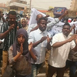 Journalists demonstrating for freedom of the press on March 25, 2019, just before the fall of President Omar Al Bashir (RD correspondent)