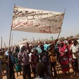 A protest by displaced people in camps for displaced people Zalingei on Monday, in solidarity with the mass sit-in outside the Ministry of Defence in Khartoum that started on April 6 (RD)