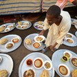 Plates laid ready for the breaking of the Ramadan fast in Khartoum (Social media)