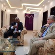 Deputy chairman of the Sudan People's Liberation Movement-North (SPLM-N) Yasir Arman meets with US Chargé d'Affaires Steven Koutsis in Khartoum today (Picture: US Embassy Khartoum)