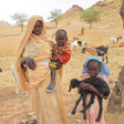 A Darfuri mother with her children and goats (globalgiving.org)