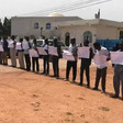 Vigil by doctors in front of West Darfur state offices in El 