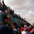 Celebrations begin as the Freedom Train arrives in Khartoum from Atbara (RD)