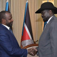 Sudan Liberation Movement-Transitional Council leader El Hadi Idris, has been appointed chairman of the SRF, meets South Sudan's Salva Kiir in Juba last week (RD)