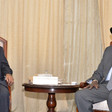 Sudanese Prime Minister Abdallah Hamdouk is received by South Sudan President Salva Kiir at in the State House Juba (Picture: South Sudan Presidential Press Unit)