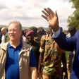 WFP Executive Director, David Beasley, with SPLM-N leader Abdelaziz El Hilu in the Nuba Mountains, South Kordofan, October 23, 219 (RD)