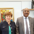 Executive Director of the International Monetary Fund Kristalina Georgieva and Sudanese Minister of Finance Ibrahim El Badawi in Washington, Oct 30, 2019 (SUNA).
