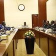 The South Sudanese peace mediators meeting the Sudanese government peace delegation in Khartoum (SUNA)