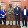 The IOM delegation headed by regional director Carmela Godeau meets the North Darfur governor Maj Gen Malik Khojali (SUNA)
