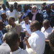 Members of the Ministerial Committee for the Study of Public Transport inspect a bus station in Omdurman, November 14, 2019 (SUNA)