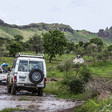 Unamid peacekeepers patrol in Central Darfur during the rainy season (File photo: Yousif Bilal/Unamid)