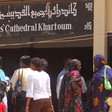 Sudanese women in front of the All Saints Cathedral in Khartoum (File photo)