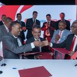 The signing of the deal between software company Oracle and Nile Bank (Social media)