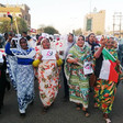 A protest of No Oppression Against Women Initiative last year (Radio Dabanga)