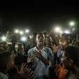 Picture by Yasuyoshi Chiba of a young man reciting a poem at a Khartoum demonstration has been shortlisted for the 2020 World Press Photo of the Year award (Yasuyoshi CHIBA/AFP)