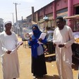 Activists in Khartoum distribute information about Covid-19, March 2020 (Social media)