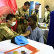 Unamid peacekeeper conducts a medical clinic in West Darfur (File photo: Umalhassan Khamis / Unamid)