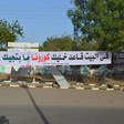 A banner in Khartoum telling people to stay at home because of the coronavirus pandemic (Social media)
