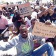 Protest by refugees in Tajoura, Libya