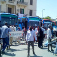 Buses wait in Cairo to carry Sudanese nationals stranded by Covid-19 border closure to Khartoum on Saturday (SUNA)