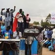 Activists at the sit-in in Nierteti, Central Darfur, June 30 (RD)