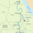 Location of the GERD on a map of the Nile river (File photo)