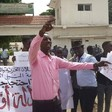 Protest in Ed Damazin on Wednesday against the detention of students by Military Intelligence (Social media)