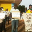 Members of the Resistance Committees active in El Diyoum El Shargiya neighbourhood in the Sudan capital of Khartoum organised a protest vigil in front of the Information Crimes Court yesterday (Social media)
