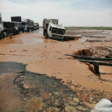 The flooded Khartoum-Port Sudan highway in Haya locality, Red Sea state (Social media)