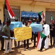 Workers of the Water Authority stage a protest vigil in Khartoum, stressing the need to accelerate the formation of the Anti-Corruption Committee in Khartoum state on September 11 (Social media)