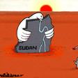 The Juba Peace Agreement is signed while the country is drowning - cartoon by Omar Dafallah (RD)
