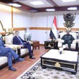 African Union Commissioner for Peace and Security Smaїl Chergui and UN Under Secretary-General for Peacekeeping Operations Jean-Pierre Lacroix met Lt Gen Abdelfattah El Burhan, chairman of the Sovereign Council in Khartoum yesterday (SUNA)