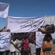 One of the protests in Darfur against the UNAMID withdrawal (Social media)