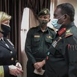 AFRICOM Director of Intelligence, Heidi Berg, meets with Sudan's Higher Military Academy professionals (AFRICOM)